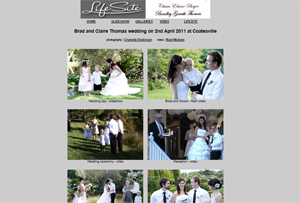 Lifesite wedding video and photo galleries