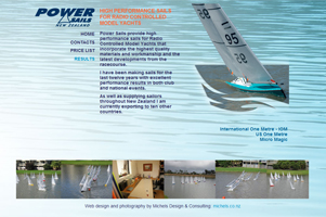 Powersails for Radio Yachts