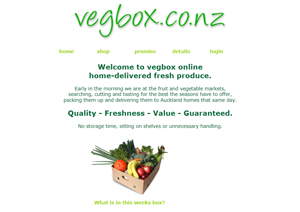 VEGBOX fresh fruit and veges